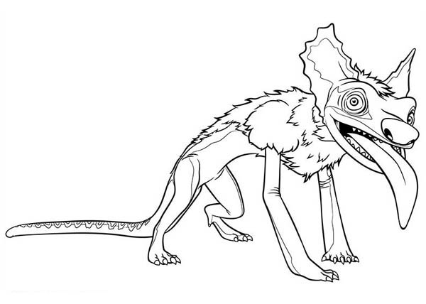 The Croods, : Meet Bear Owl from the Croods Coloring Page