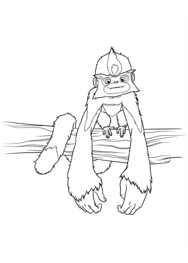 The Croods, : Meet Punch Monkey from the Croods Coloring Page