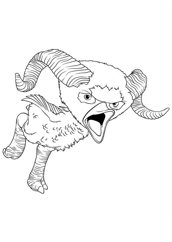 The Croods, : Meet Ramu from the Croods Coloring Page