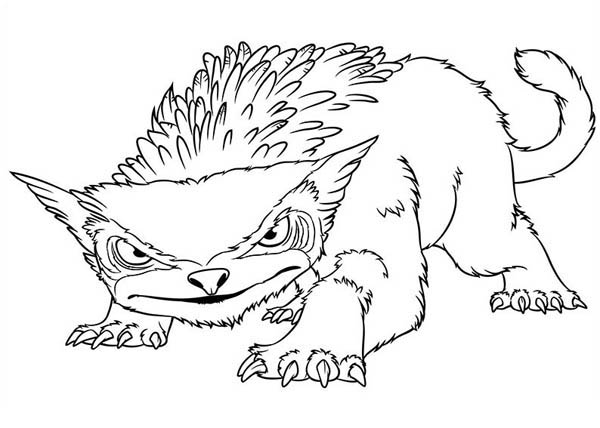 The Croods, : One of the Crossbreed Animal from the Croods Coloring Page