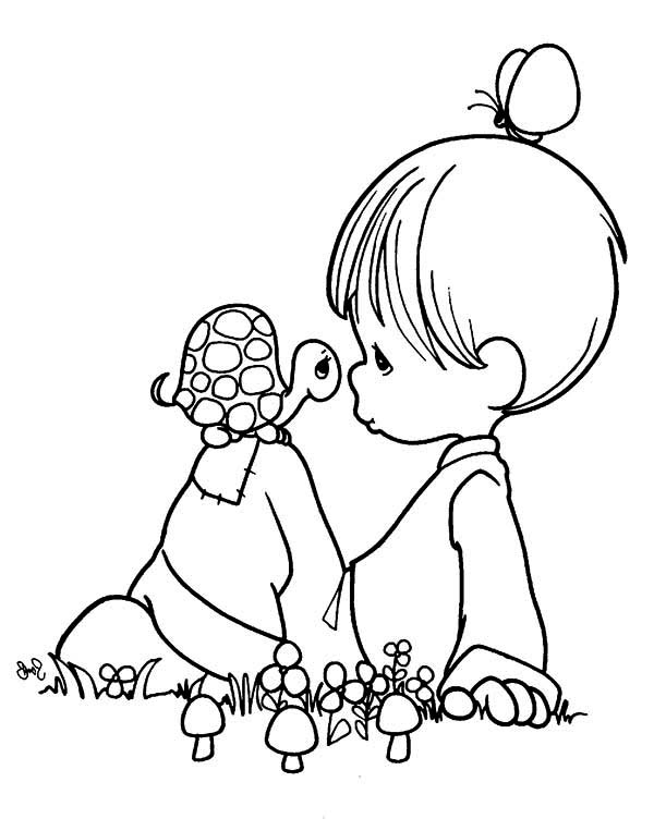 Precious Moments, : Part of My World Precious Moments Coloring Page