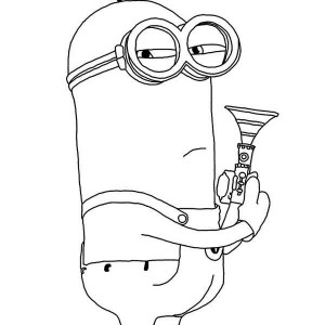 minions coloring pages of phil - photo#5