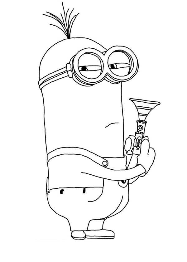 Minion, : Phil The Minion Coloring Page
