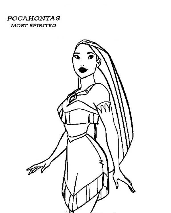 Pocahontas, : Preety Pocahontas Coloring Page