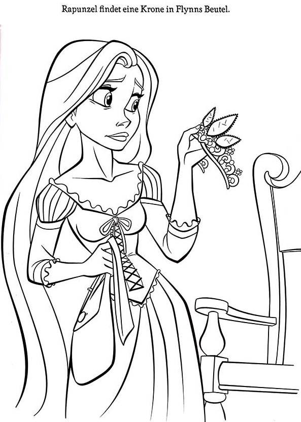 Rapunzel, : Rapunzel Coloring Page