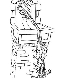 rapunzel looking at lantern coloring page kids play color