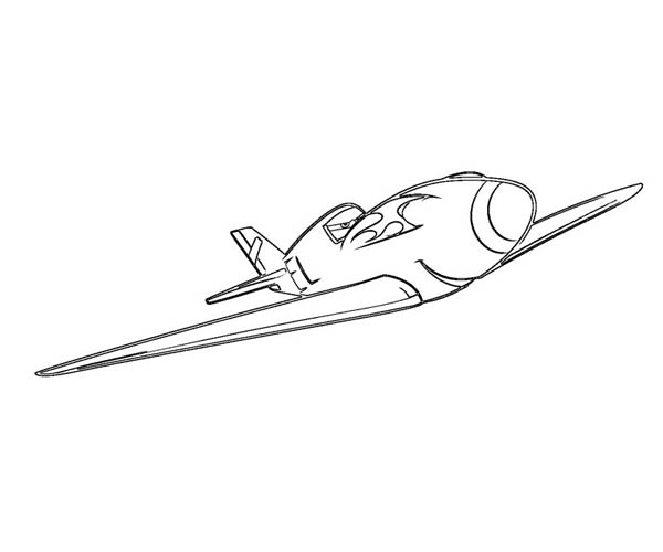 Disney Planes, : Ripslinger, the World Champion in Disney Planes Coloring Page
