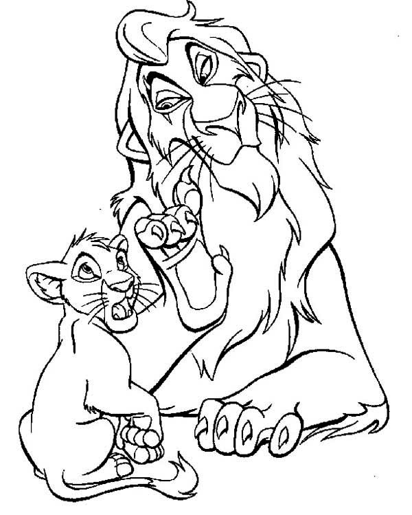 Lion King, : Scar Evil Plan to Simba The Lion King Coloring Page