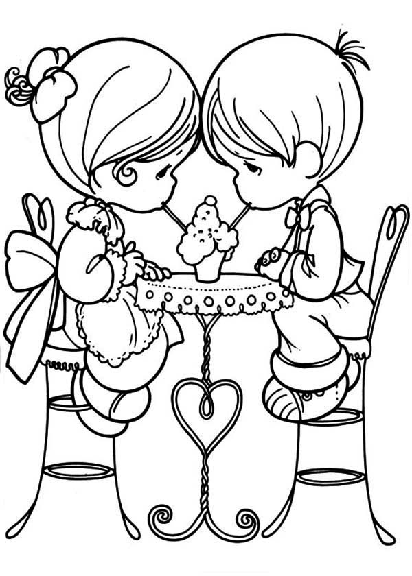 Precious Moments, : Share Our Love Precious Moments Coloring Page