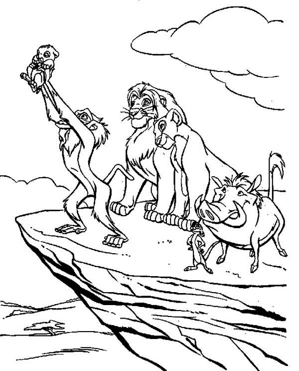 Lion King, : The Best Scene of The Lion King Coloring Page