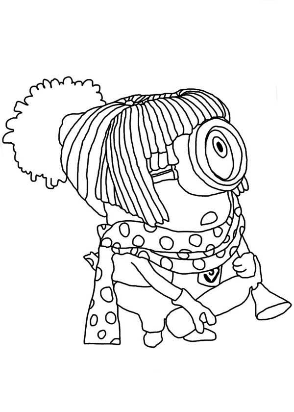 Minion, : The Harajuku Minion Coloring Page