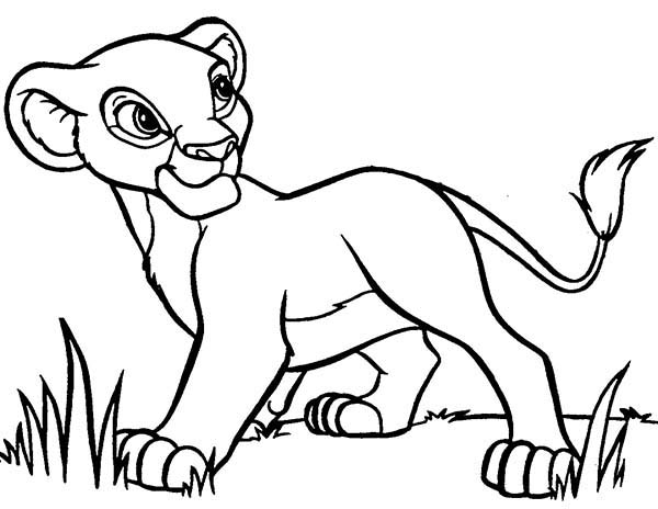Lion King, : The Lion King Simba Coloring Page