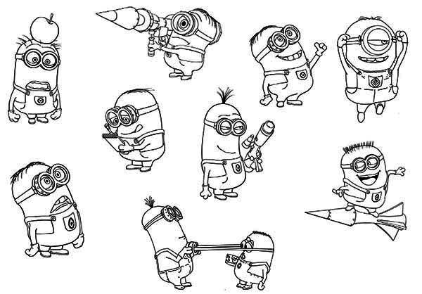 Minion, : The Minion Coloring Page