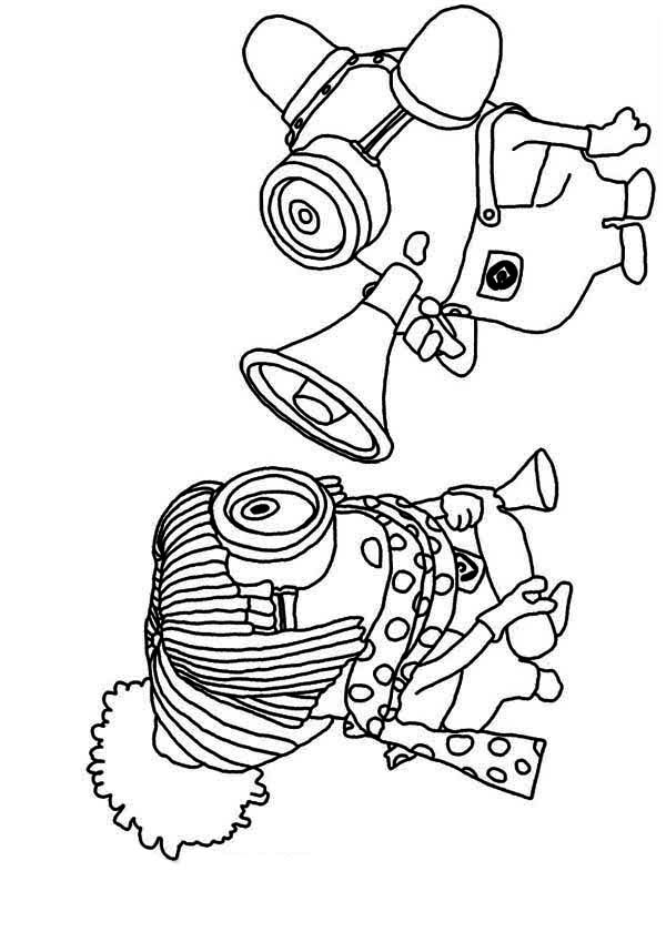 Kleurplaten Minions Kevin.The Minion Poster Coloring Page Kids Play Color