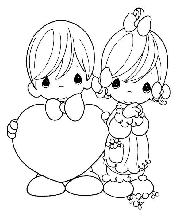 Precious Moments, : You Are My Dream Come True Precious Moments Coloring Page