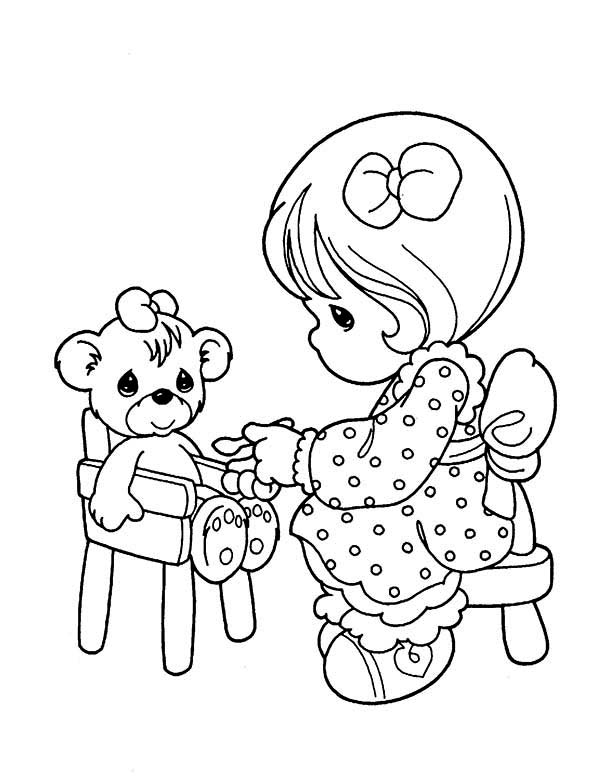 Precious Moments, : You Are My Teddy Bear Precious Moments Coloring Page