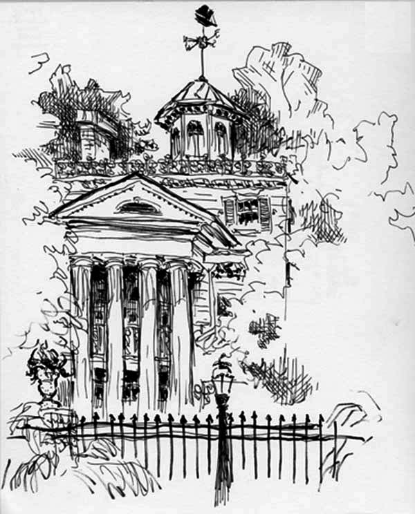 Haunted House, : Abandoned House in Haunted House Coloring Page