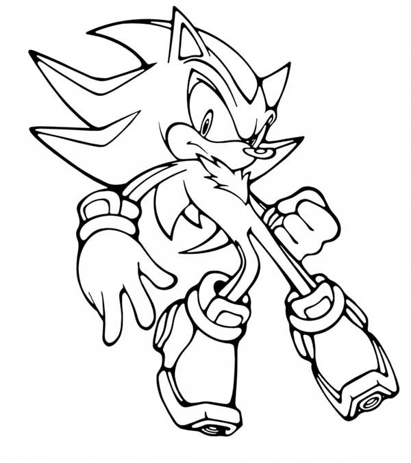 Sonic the Hedgehog, : Amazing Metal Sonic Coloring Page