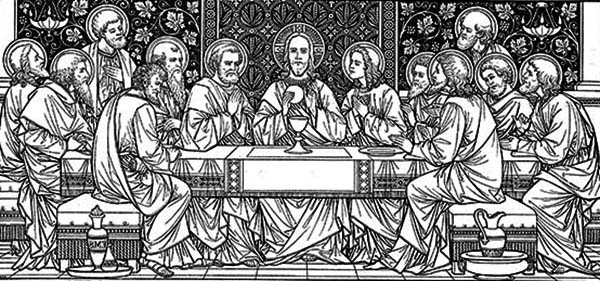 Last Supper, : Amazing Picture of the Last Supper Coloring Page