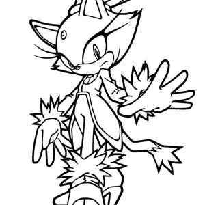 Sonic Character The Knuckles Coloring Page Kids Play Color