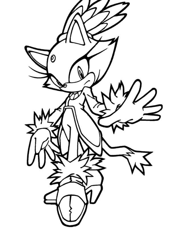 Sonic the Hedgehog, : Amy - Sonic Coloring Page