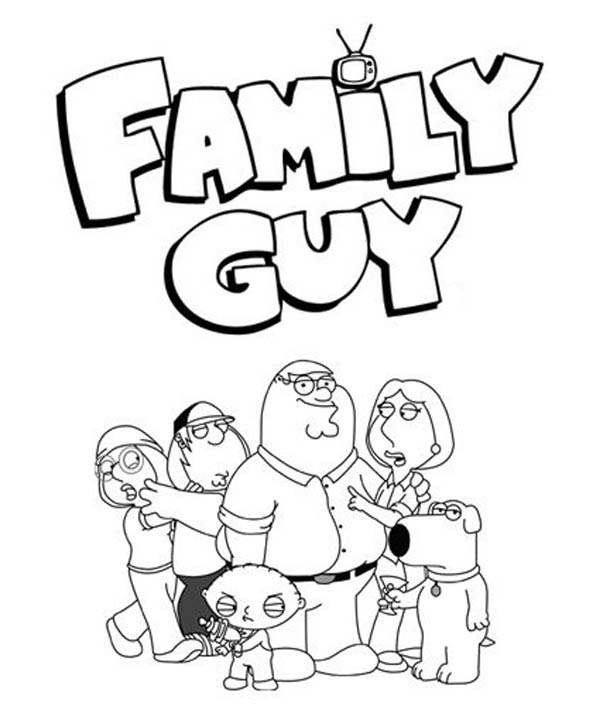 Family Guy, : Awesome Family Guy Poster Coloring Page