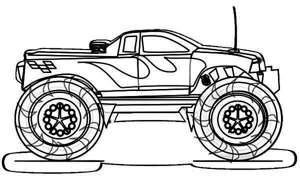 Monster Truck, : Bad News Travels Fast Monster Truck Coloring Page