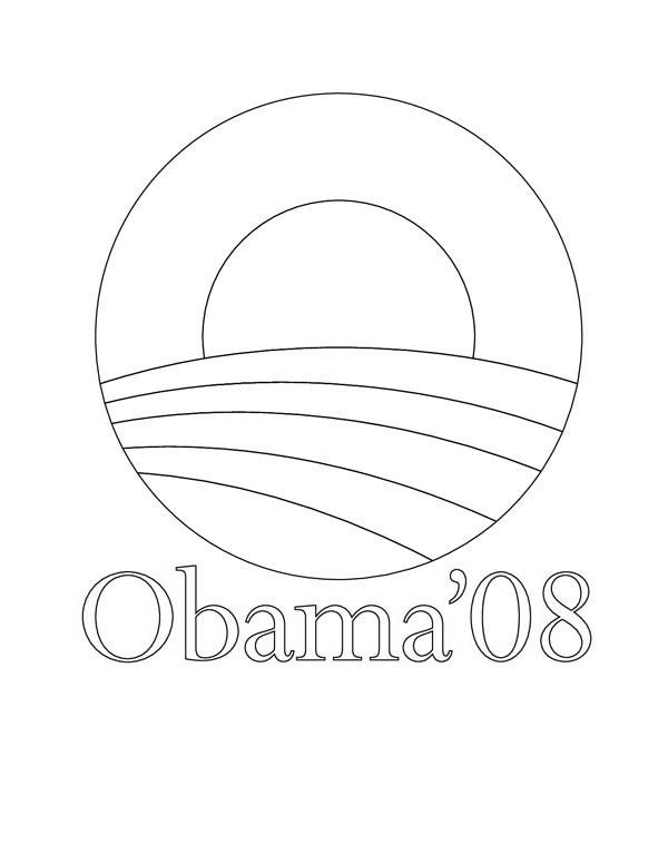 Barack Obama, : Barack Obama Coloring Page
