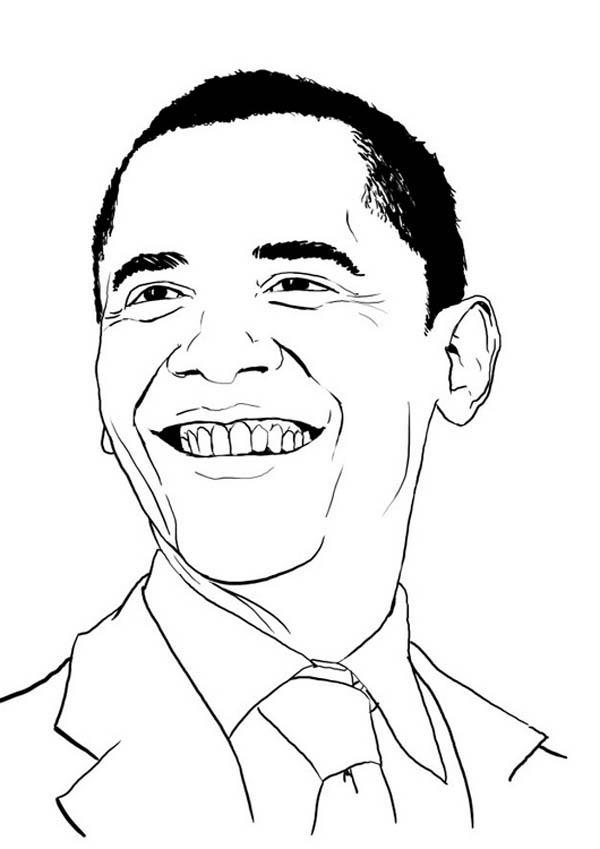 Barack Obama, : Barack Obama Poster Coloring Page