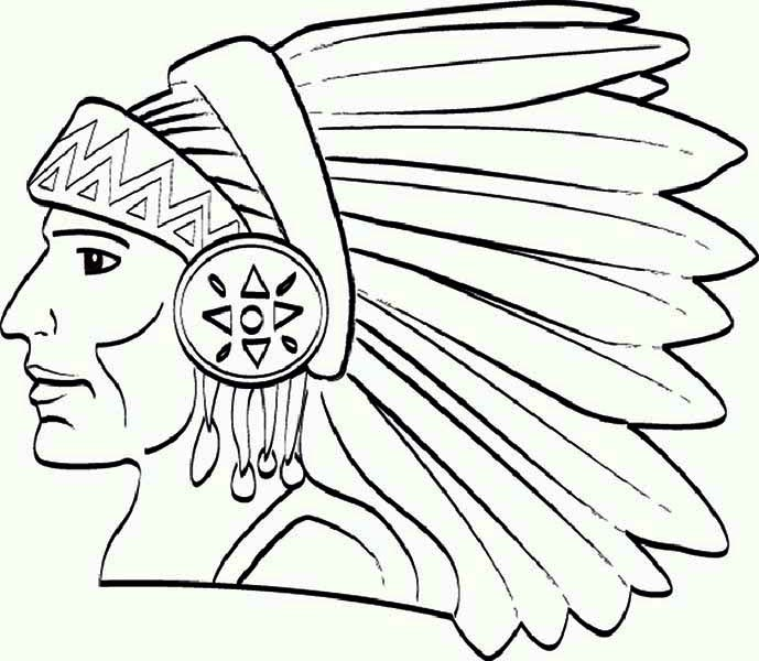 Chief Native American Apache Tribe Coloring Page Kids Play Color