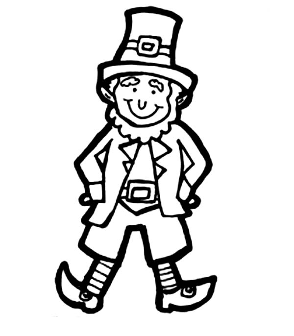 Leprechaun, : Classic Leprechaun Costume for Parade Coloring Page
