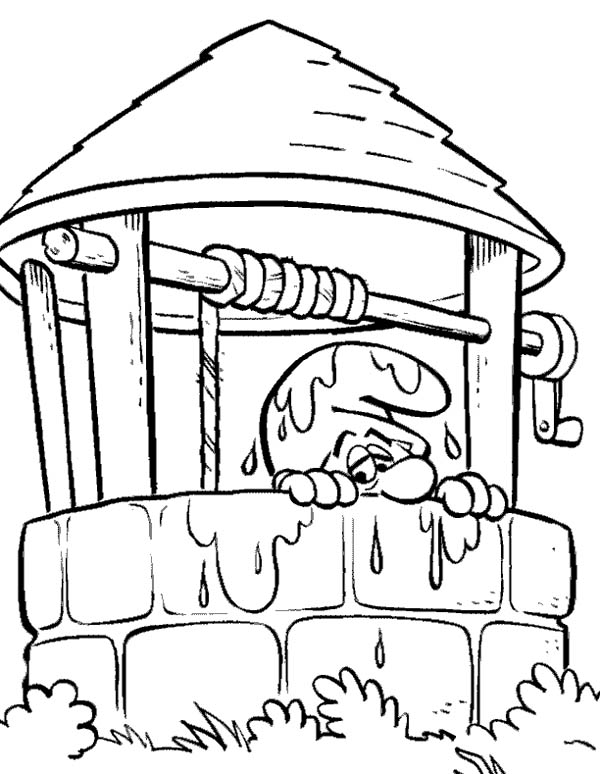 The Smurf, : Clumsy Smurf from The Smurf Coloring Page