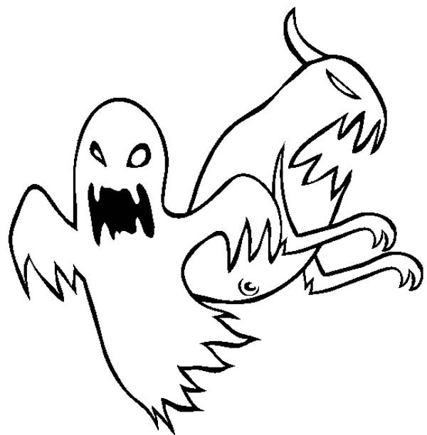 Ghost, : Cruel Ghost Coloring Page