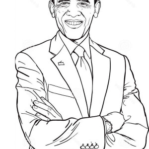 44th The USA President Barack Obama Coloring Page : Kids ...
