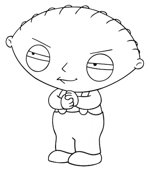 Family Guy, : Evil Stewie in Family Guy Coloring Page