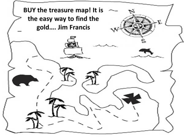Treasure Map, : Find Cave Full of Gold with Treasure Map Coloring Page