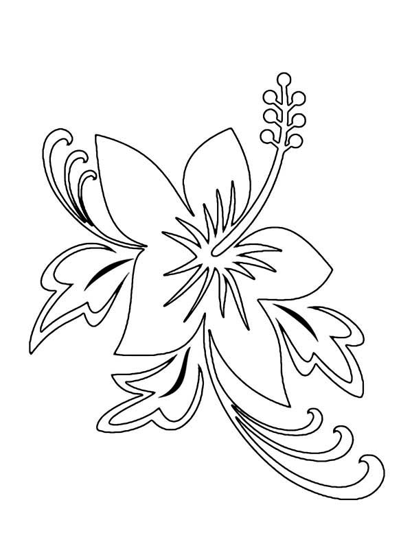 Flowers, : Flower Tattoo Coloring Page