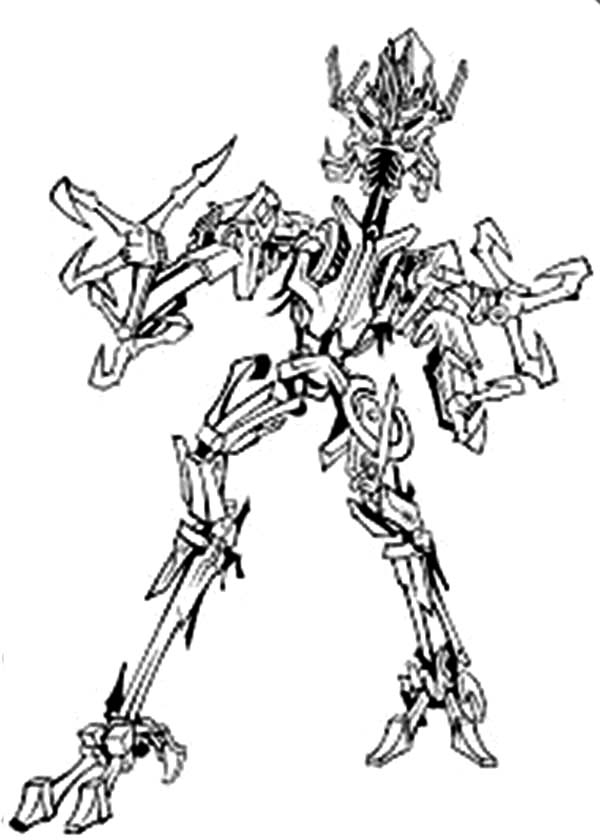 Transformers, : Frenzy from Transformers Coloring Page