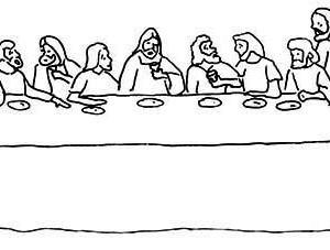 The Lord's Supper In The Last Supper Coloring Page : Kids ...