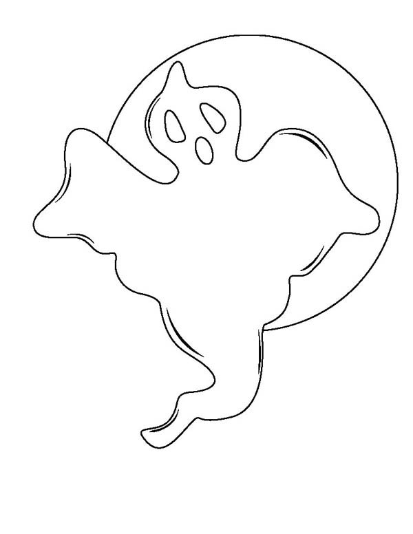Ghost, : Halloween Phantom Ghost Coloring Page