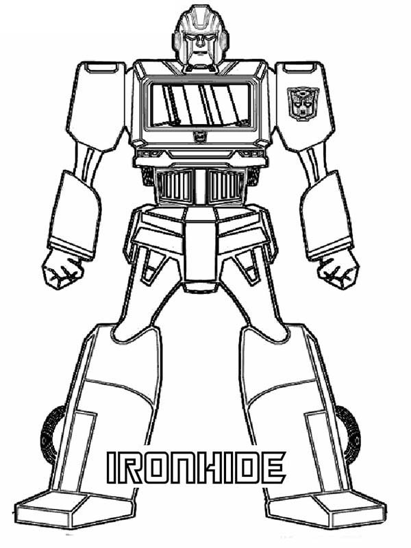 Transformers, : Ironhide from Transformers Coloring Page