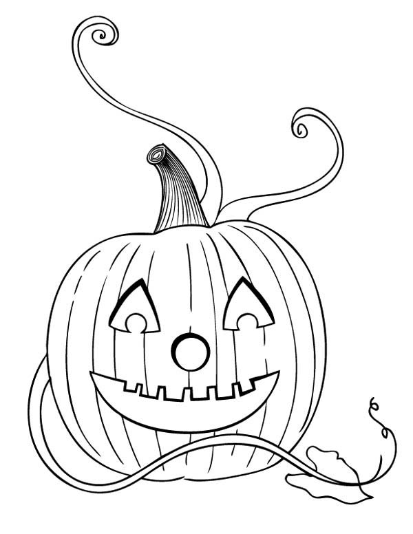 Pumpkins, : Jack O' Lantern the Halloween Pumpkins Coloring Page