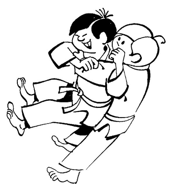 Karate Kid, : Karate Kid Sub Mission Style Coloring Page