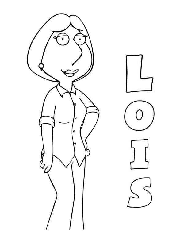 Family Guy, : Lois from Family Guy Coloring Page