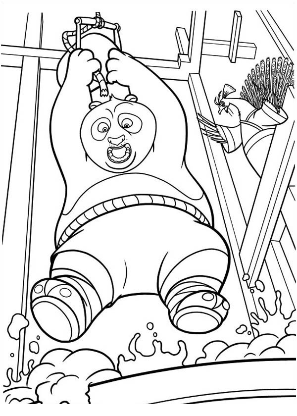 Kung Fu Panda, : Lord Shen Sent Po to Boiling Pan in Kung Fu Panda Coloring Page