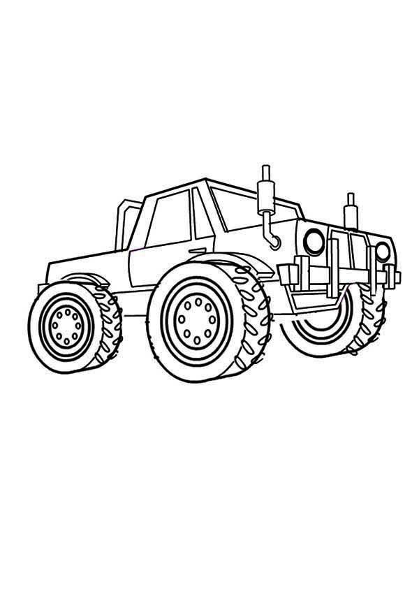 Monster Truck, : Metal Mulisha Monster Truck Coloring Page