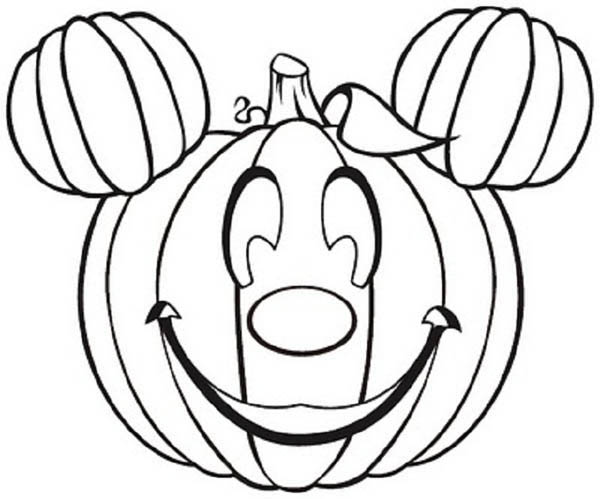 Pumpkins, : Mickey Mouse Pumpkins Coloring Page