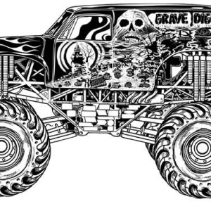 Mounteneer Monster Truck Coloring Page Kids Play Color
