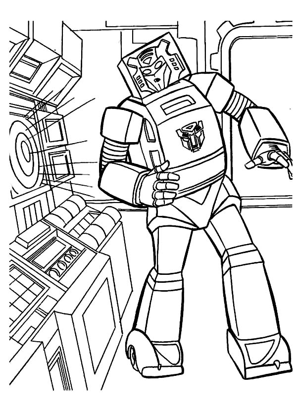 Transformers, : Old School Bumblebee in Transformers Coloring Page