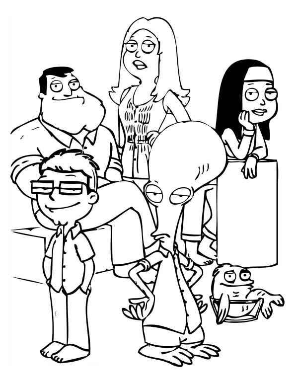 Family Guy, : Other Characters in Family Guy Coloring Page